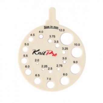 Knit Pro Nadelgrößenschablone Ivy - Weißes Stricknadelmaß - Runde Nadelschablone