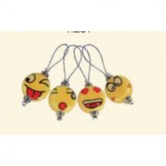 12 Smiley Maschenringe - Verschieden Größen & Durchmesser Ringmarkierer - KnitPro  Maschenmarkierer Emoticons - Limited Edition