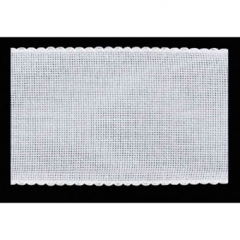 VERSCHIEDENE BREITEN! Stickbänder Zählstoff 14 ct /  54 pts - Stern-Aida Stickborte - Weißer Stickstoff - 5,4 Stiche / Zentimeter - Kreuzstichband 25mm / 2,5cm - Weiß