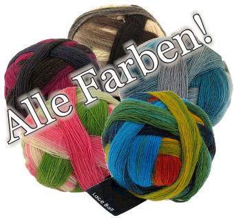 Laceball Zauberball Wolle - Schoppel Zauberbälle Lacegarn mit Farbverlauf