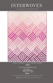 Interwoven Patchworkdecke Quilt Pattern - Vorlage & Schnittmuster von Lo & Behold Stitchery  / Brittany Lloyd