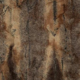 Luxuriöser Kunstpelz Bernstein / Taupe - Rotfuchs Fellimitat - Red Fox Luxe Cuddle Fellstoff