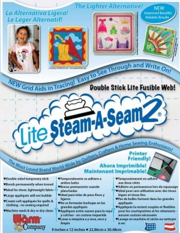 Lite Steam a seam 2 - Klebevlies Meterware - ÜBERBREITE! - LIGHT!