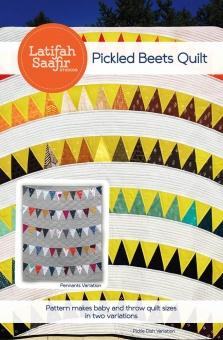 Pickled Beets Patchworkdecke Quilt Pattern - Vorlage & Schnittmuster von Latifah Saafir Studios - Tula Pink Tuesdays True Colors Patchworkblöcke