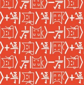 Mathematik-Formeln  The Big Bang Theory Motivstoff  - Original Lizenzstoff Webware Katzenstoff