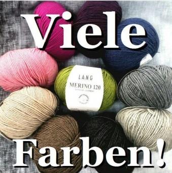 Merino 120 Strickgarn - VIELE FARBEN! Merinostrickgarn - Lang Yarns Häkelgarn Merino Fine Superwash