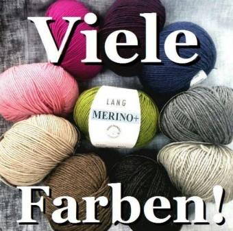 Merino+ Strickgarn - VIELE FARBEN! Merinostrickgarn - Lang Yarns Häkelgarn Merino Fine Superwash