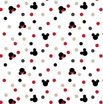 "JERSEY! Original ""Mickey Maus"" Disneystoff - Jerseystoff ""Delicious Mickey & Minie Mouse Heads"""
