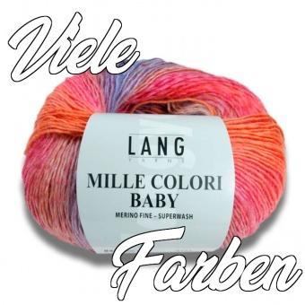 Lang Yarns Mille Colori Baby Strickgarn - GROßE AUSWAHL! - Muticolor Merino Fine mit Farbverlauf