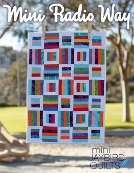 Mini Radio Way Miniaturquilt - Hex'N'More Schnittmuster - Jaybird Quilts