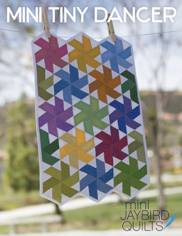 Mini Tiny Dancer Miniaturquilt - Hex'N'More Schnittmuster - Jaybird Quilts