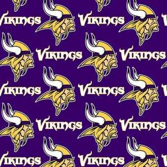 Minnesota Vikings Motivstoff - Original NFL Lizenzstoff - American Football Meterware