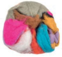 Bunte Schafswolle - Regenbogen Mix Sortiment - Filzwolle zum Nassfilze & Trockenfilzen