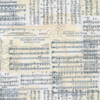 Notenstoff -  Antique Music Sheets & Musical Notes  - Timeless Treasures Musikstoffe