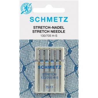 Stretch Nähmaschinen-Nadeln - Schmetz Stretchnadeln - Nähmaschinennadeln No. 75 H-S