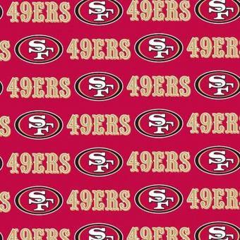 San Francisco 49ers Motivstoff - Original NFL Lizenzstoff - American Football Meterware