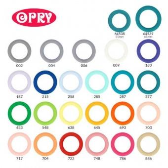Silikonring für Babyspielzeuge - Beißring / Rasselring / Greifring - Verschiedene Farben