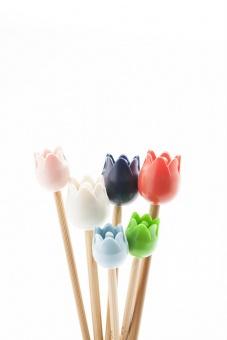 Tulpen aus Amsterdam Spitzenschoner / Stricknadelenden / Stricknadelstopper - Tulip Point Protectors