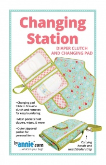 Changing Station Wickeltasche & Wickelunterlage - Diaper Clutch and Changing Pad - by Annie Schnittmuster