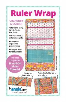 Linealtasche / Nähtasche / Werkzeugtasche - Ruler Wrap Organizer & Carrier - by Annie Schnittmuster
