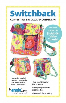 Switchback Convertible Backpack & Shoulder Bag - 2-in-1 Rucksack & Schultertasche - by Annie Patterns Schnittmuster