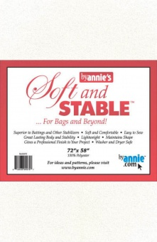 Soft & Stable Stabilisator - Taschenvlies by Annie's - 72 x 58 Inches SB-Packung XXL JUMBO!