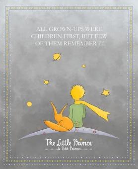 Der kleine Prinz Motivstoff - DIGITALDRUCK PANEL! -  Le Petit Prince Stoff - The Little Prince by Riley Blake Lizenzstoff