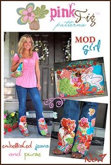 Mod Girl Embellished Jeans and Purse - Jacke & Weste - Pink Fig Pattern Schnittmuster