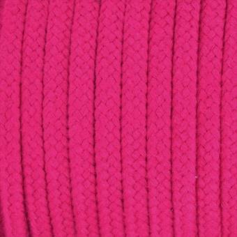 Hoodiekordel / Flechtkordel Pink 8mm  - METERWARE - Anorakkordel / Baumwollkordel