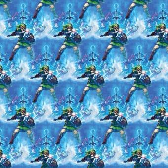 "Zelda Motivstoff - Nintendo ""Zelda Skyward Swords"" Lizenzstoff - Patchworkstoff"