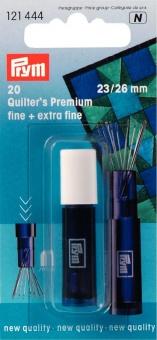 20 Quilter's Premium Quiltnadeln fine + extra fine inkl. Köcher - PRYM