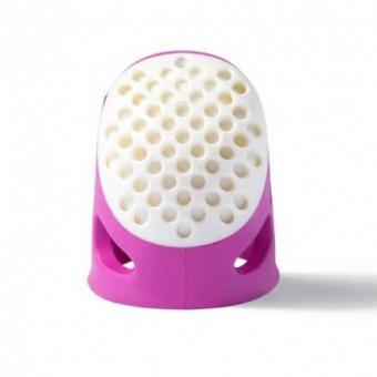 Ergonomischer Fingerhut - PRYM Soft Comfort  Größe M / Fuchsia-Pink