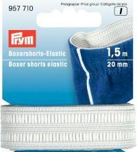 Rohweißes Boxershorts Elastic 20mm - Gummizug / Gummitwist / Gummiband / Gummizug - 1,5m Karte - elastisch