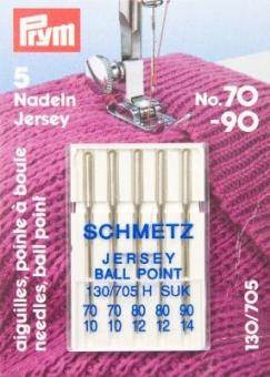 Jersey Nähmaschinennadeln - Schmetz Jerseynadeln 130/705 H SUK Stärke 70-90