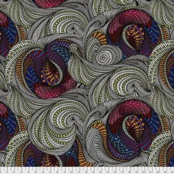 Multi Snail Garden- Adrienne Leban Designerstoffe - Bio Geo 1 Patchworkstoffe