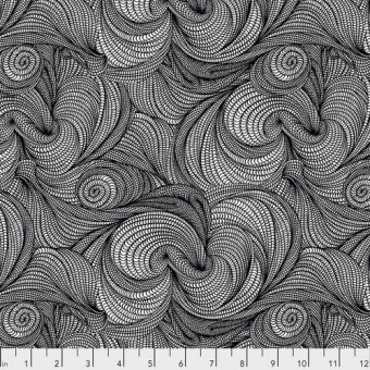 Black Stone Flip- Adrienne Leban Designerstoffe - Bio Geo 1 Patchworkstoffe
