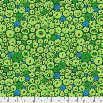 Green Button Mosaic Motivstoff mit Knöpfen - Kaffe Fassett Collective Designerstoffe & Patchworkstoff Meterware