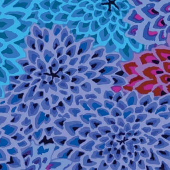 Cool Dahlia Blooms - Kaffe Fassett Collective - Limited Edition