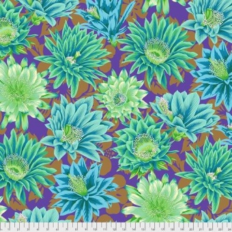 Emerald Cactus Flowers - Kaffe Fassett Collective Designerstoffe - Philip Jacobs Spring 2021 Patchworkstoff