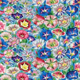 Aqua Variegated Morning Glory - Kaffe Fassett Collective Designerstoffe - Philip Jacobs Spring 2019 Patchworkstoff