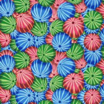 Multi Sea Urchins - Kaffe Fassett Collective Designerstoffe - Philip Jacobs Spring 2019 Patchworkstoff
