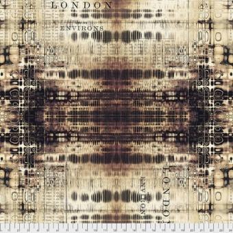 Neutral London Gridlock - Tim Holtz Eclectic Elements Abandoned Patchworkstoffe - Vintage Steampunk Motivstoff