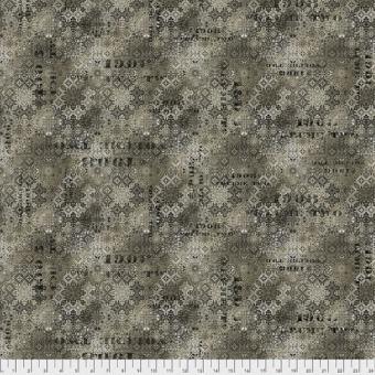Neutral Faded Tile - Tim Holtz Eclectic Elements Abandoned Patchworkstoffe - Vintage Steampunk Motivstoff