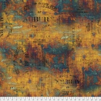 Patina Urban Grunge - Tim Holtz Eclectic Elements Abandoned Patchworkstoffe - Vintage Steampunk Motivstoff