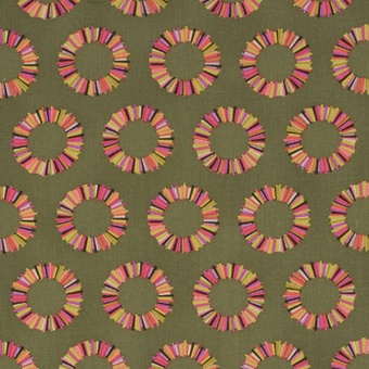 Olive Pineapple Slices Kreise - Acacia by Tula Pink