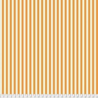 Begonia Tent Stripe - All Stars by Tula Pink - Streifenstoff Wollweiß / Orange