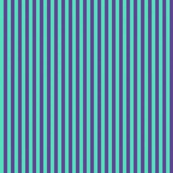 Iris Tent Stripe - All Stars by Tula Pink - Streifenstoff Blau / Türkis