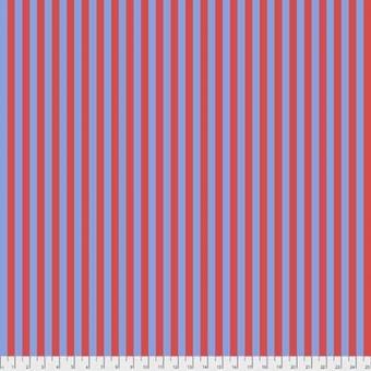 Lupine Tent Stripe - All Stars by Tula Pink - Streifenstoff Rot / Blau