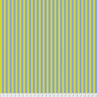 Myrtle Tent Stripe - All Stars by Tula Pink - Streifenstoff Blau / Grün-Gelb