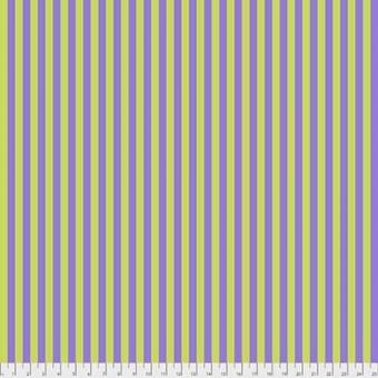 Orchid Tent Stripe - All Stars by Tula Pink - Streifenstoff Grün / Lila